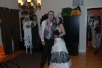 We were a dead bride and groom for halloween...